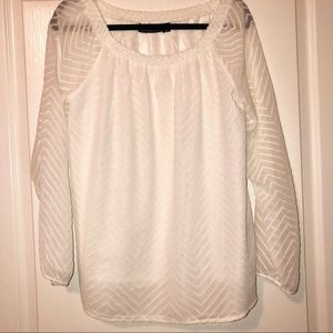 Attention Off White Blouse